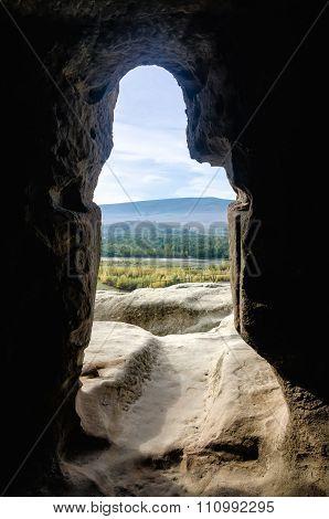 Doorway through rock