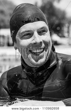 Happy Freediver After A Static Performance