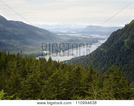 View from Mount Roberts, Juneau, Alaska