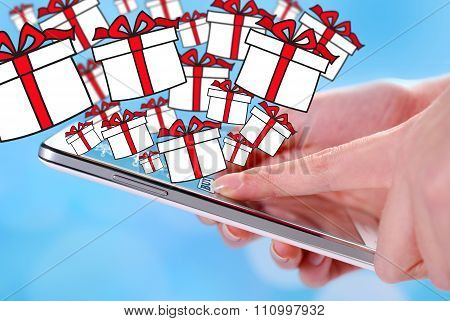 Buying Christmas Presents By Smartphone