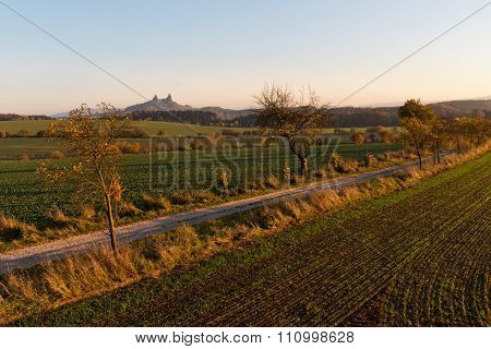Morning Landscape And Trosky Castle, Czech Republic