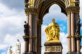 Постер, плакат: Albert Memorial In London Situated In Kensington Gardens Statue Of Albert By John Henry Foley And