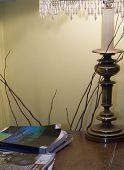 Livingroom Corner With Lamp poster