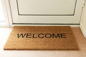 Welcome Mat Inside Doorway Of Home poster