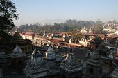 stock photo of tantric  - holy hindu pashupatinath temple in kathmandu nepal - JPG