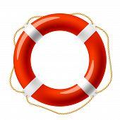 Постер, плакат: Красные круги спасательные