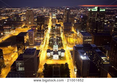 Downtown St. Louis Skyline At Night