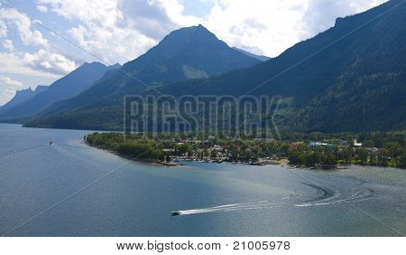 Bird View Of Waterton Village