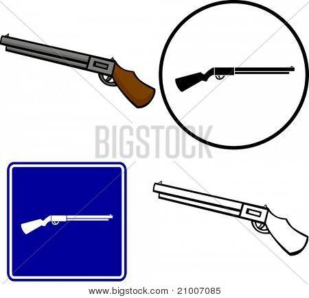 shotgun illustration sign and symbol