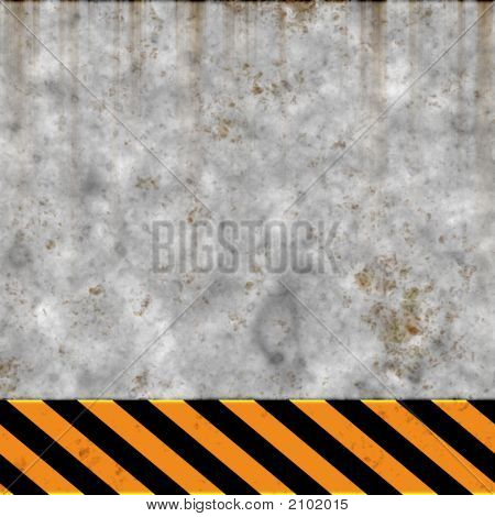 Grungy Construction Safety Sign