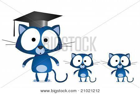 Cat teacher pupils