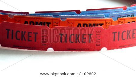 Strip Of Tickets