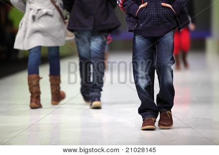 MOSCOW - FEBRUARY 22: Unidentified child models wear fashions from Snowimage, walk catwalk in Collection Premiere Moscow, main platform of fashion industry in Eastern Europe, on February 22, 2011, Moscow, Russia.