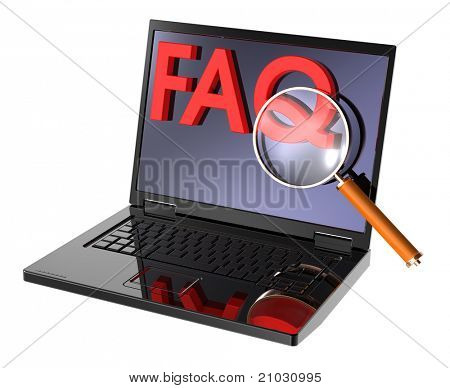Search for information in the Internet. Computer generated 3D photo rendering.