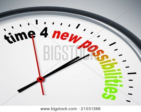 An image of a nice clock with time 4 new possibilities