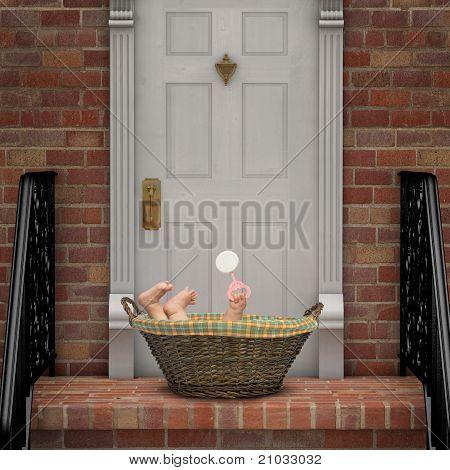 Bebê à porta