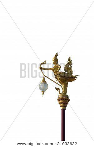 Native Thai Style Angel Lantern Pillar
