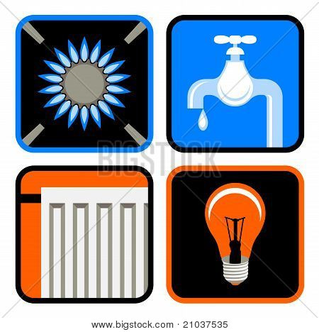 Public Utilities Icon Set
