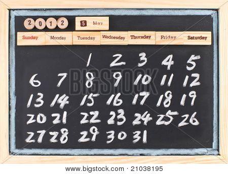 Hand Drawing 2012 Calendar