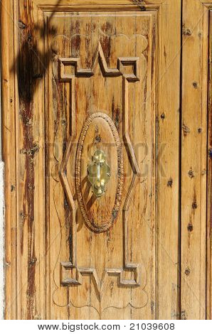 Wooden Door With Door Knocker