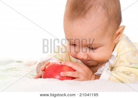 Baby And An Apple