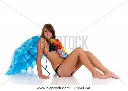Teenager Girl In Bikini