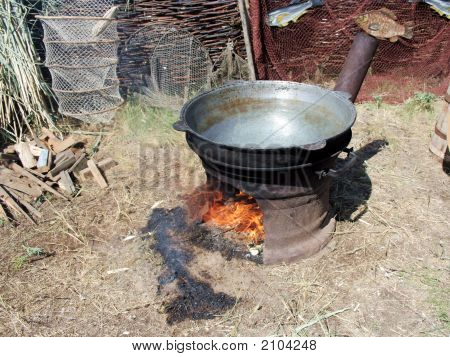 Fish-Soup In Caldron
