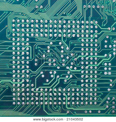Circuito electrónico de la computadora.