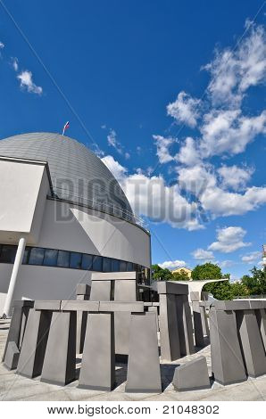Stonehenge installation. Planetarium. Moscow. Russia.