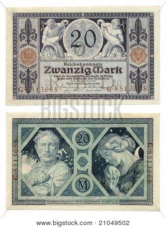 Dinheiro alemão velho