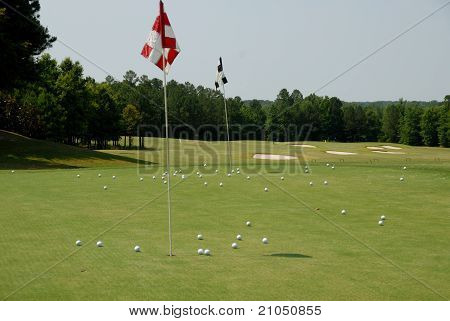 Golf Course Practice Putting Green