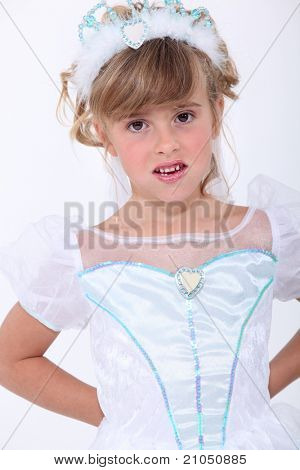 Girl dressed up as a princess