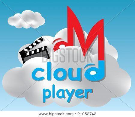 Cloud Player Concept Illustration
