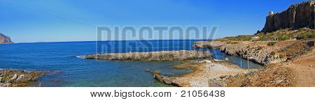 Sicily coastline panorama (Italy)