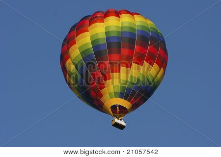 Hotair Balloon With Clear Blue Sky