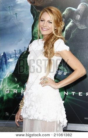 LOS ANGELES - JUN 15: Blake Lively at the premiere of Warner Bros. Pictures' 'Green Lantern' held at Grauman's Chinese Theatre in Los Angeles,CA on June 15, 2011.