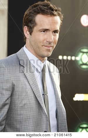 LOS ANGELES - JUN 15: Ryan Reynolds at the premiere of Warner Bros. Pictures' 'Green Lantern' held at Grauman's Chinese Theatre in Los Angeles,CA on June 15, 2011.