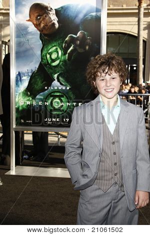 LOS ANGELES - JUN 15: Nolan Gould at the premiere of Warner Bros. Pictures' 'Green Lantern' held at Grauman's Chinese Theatre in Los Angeles,CA on June 15, 2011.