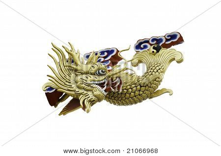 a golden fish dragon
