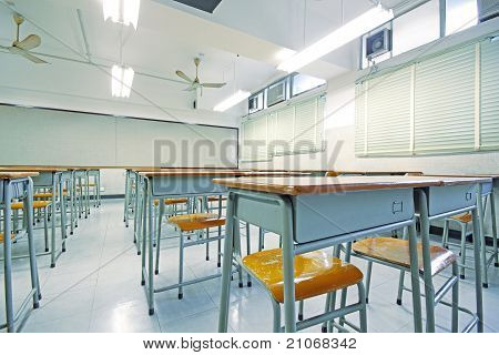 Empty Big Classroom At School