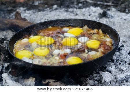 Close-up Of Fried Eggs