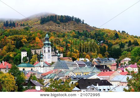 Autumn in historical Banska Stiavnica
