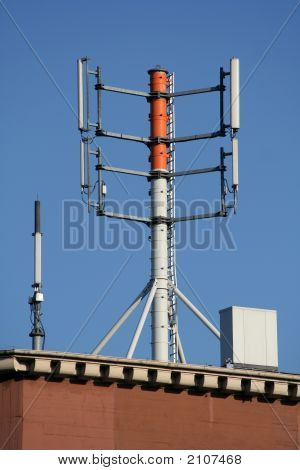 Huge Antenna On A Roof