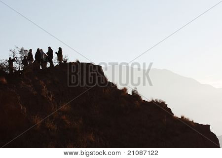 Silhouttes over the Cliff