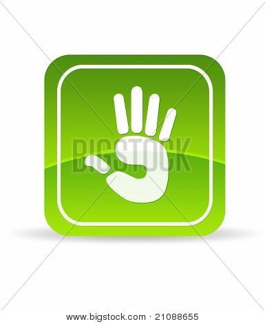 Green Hand Icon