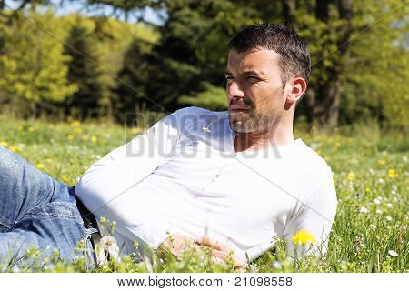 cool in grass