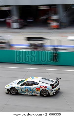 Portrait view of team LMP at the Malaysian SuperGT race