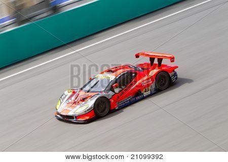 Autobacs racing team Aguri at the Malaysian SuperGT race