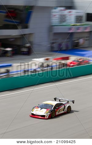 Team JLOC at the Malaysian SuperGT race