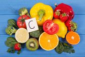 Fruits And Vegetables As Sources Vitamin C, Dietary Fiber And Minerals, Strengthening Immunity And H poster